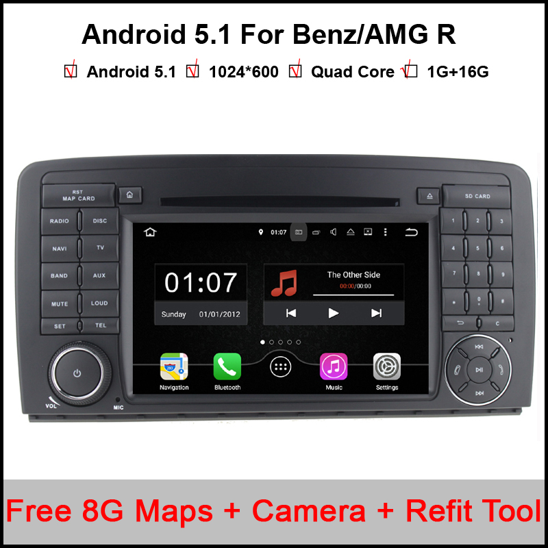 Two Din 7 Inch Android Car DVD Player For Mercedes Benz AMG R Class W251 R280