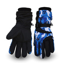 Couple Ski Thermal Ski Gloves Winter Fleece Waterproof Skiing Snowboard Gloves Snow Outdoor Sport Women Men Unisex Snow Gloves стоимость