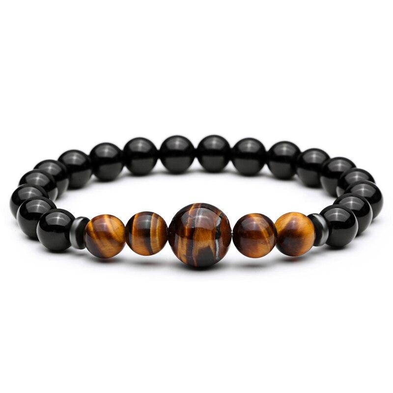 Mcllroy Black Beads Bracelet Tiger Eye Bead Mens