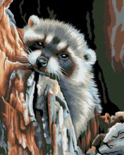 "DIY Painting By Number – Raccoon (16""x20"" / 40x50cm)"