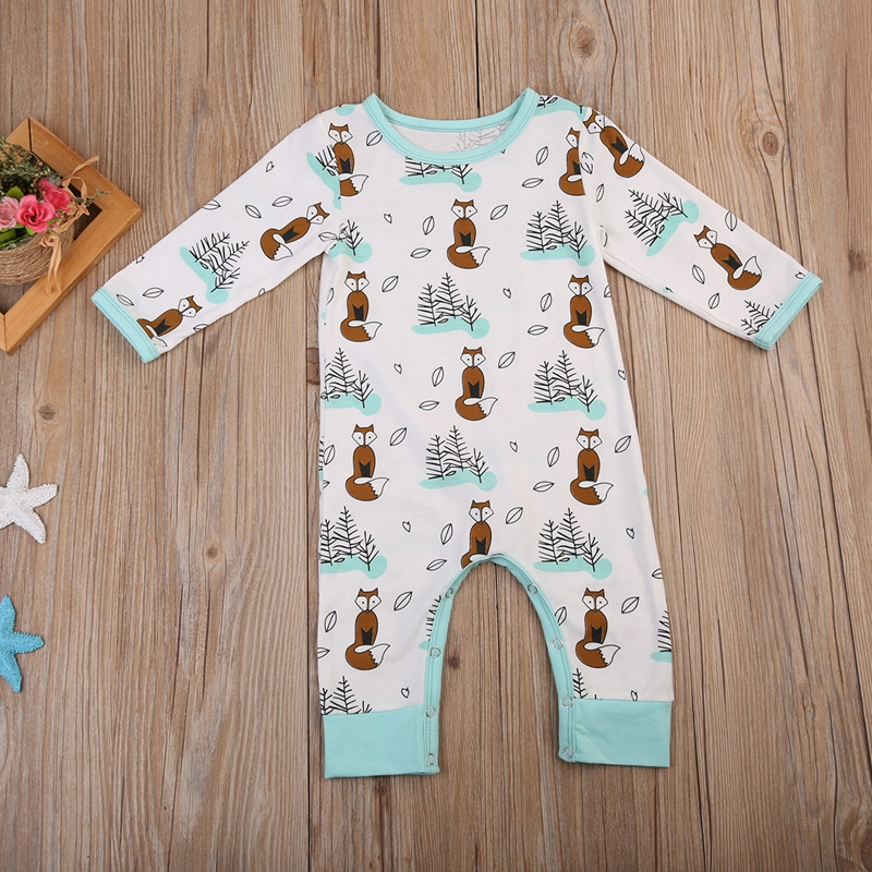 Winter Newborn Toddler Baby Boy Cotton   Romper   Clothes Jumpsuit Playsuit Long Sleeve Cotton Outfits