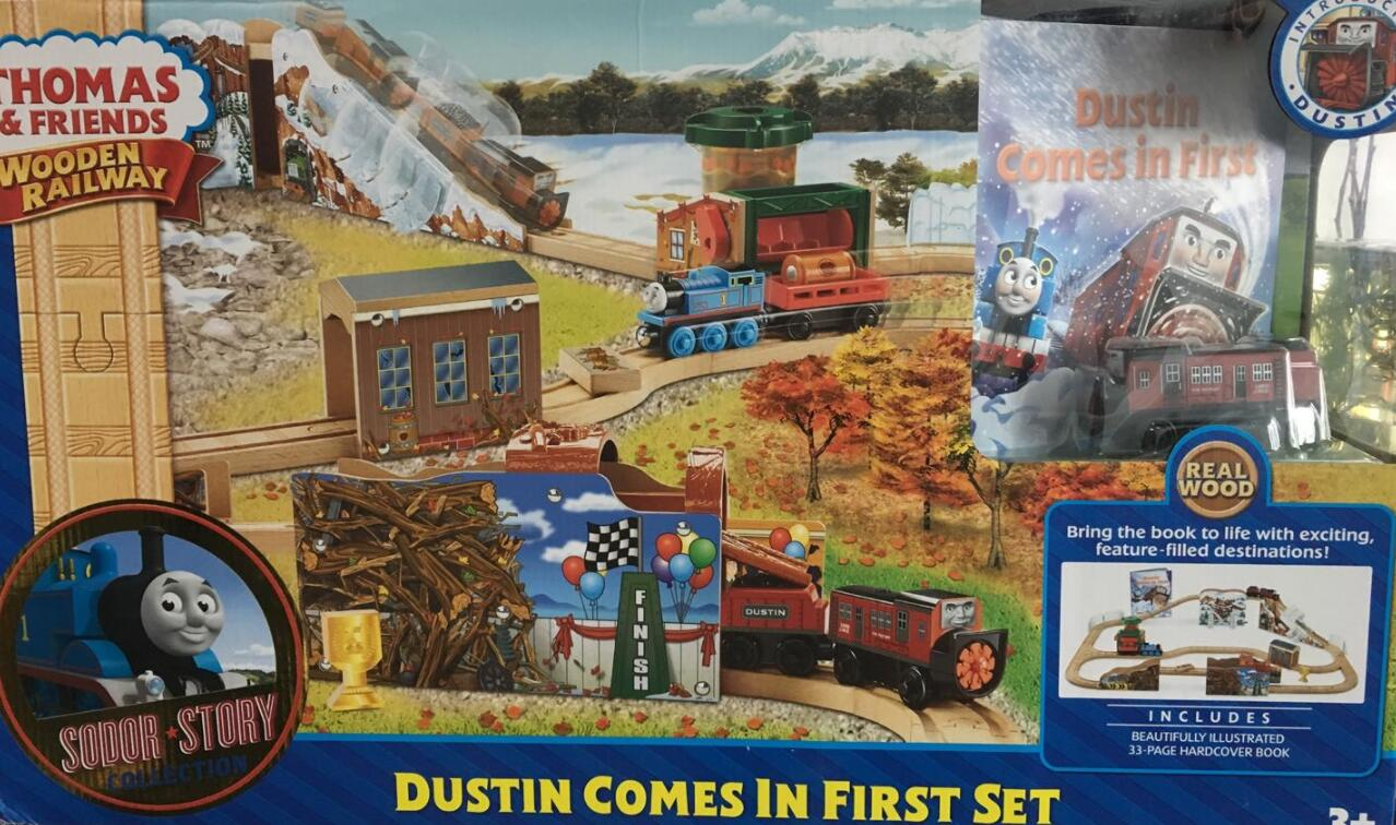 Train Toys Thomas Railway Track TTC88 Dustin Set Thomas And Friends Truck Car Brio Toys for Boys Engine Models Building Toy 78pcs hand crafted wooden train set triple loop railway track kids toy play set
