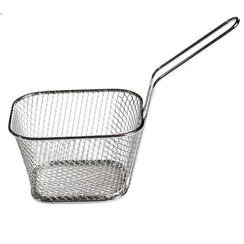 Mini Frying Basket Mesh Stainless Steel  Square Block French Fries Chips Strainer Net Kitchen Tool Best Price