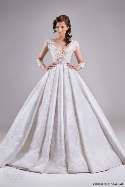 Long Sleeves Sheer Backless Haute Couture Wedding Dresses 2017 Bridal Gown