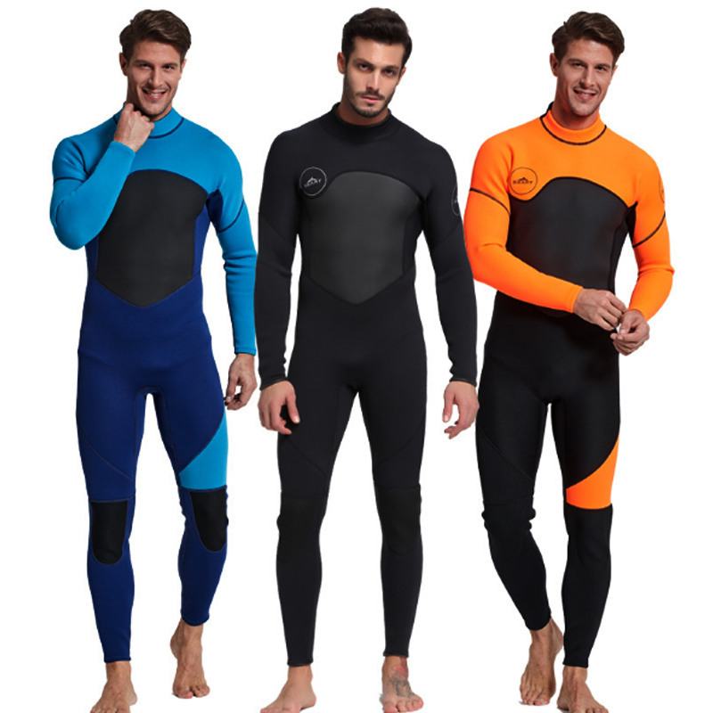C257 New 3MM diving suits thickened warm winter outdoor snorkeling conjoined jellyfish clothing Surfing clothing Swimwear