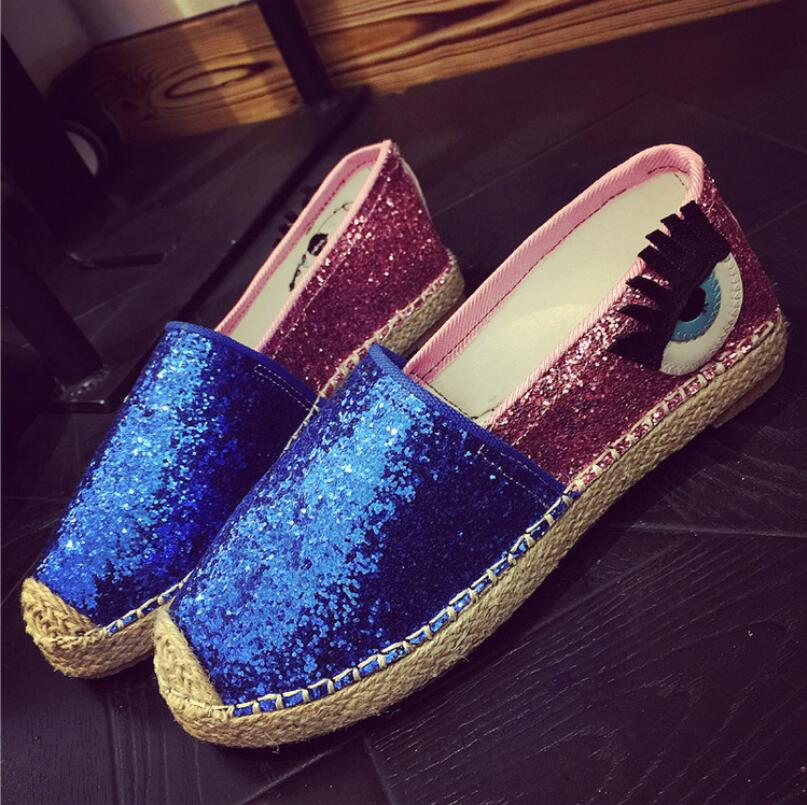 WOLF WHO Eyelash Moccasins for Women Thick-soled Loafers Slip-on Bling Canvas Shoes Women Zapatillas Mujer Casual Ladies Flats women cartoon loafers 2015 casual canvas flats shoesladies trifle thick soled creepers footwear mujer zapatos