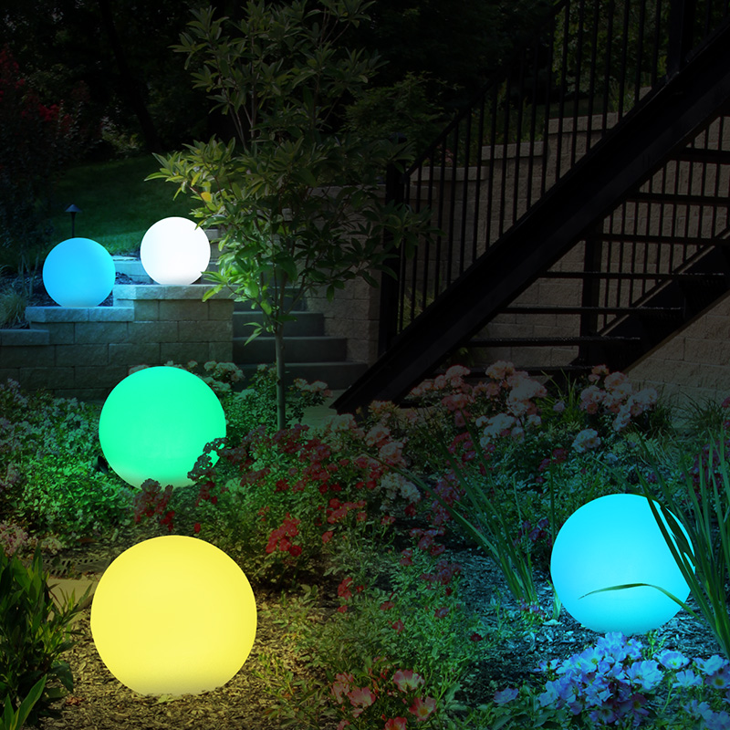 USB Rechargeable Garden Light Remote Control RGB Colorful LED Floating Ball Waterproof Outdoor Illuminated Decor Swimming Pool