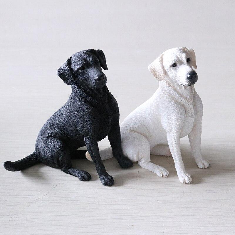 Fashion Vehicle Handicraft Collection Simulated Animal Labrador Dog Model New Figurines Miniatures Dog Models Decoration Crafts