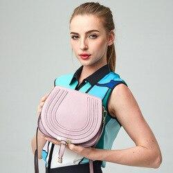 2017 bolso bandolera pequeño de piel de vaca para mujer, bolsa de mensajero genuina, bolsa mujer de cuero de marca famosa, bolso de hombro para mujer