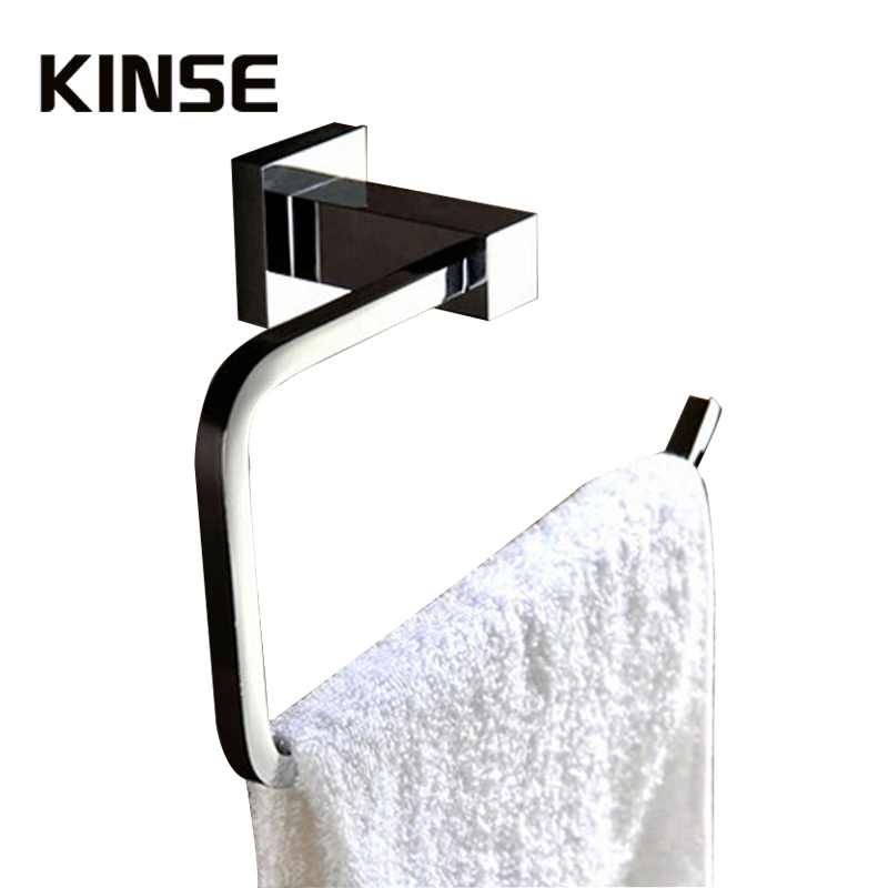Newly Square Style Bathroom Chrome Finish Single Wall Mounted Towel Rack Towel Hanging Clothes Hanger different colors wall mounted clothes hook bathroom towel hanger crystal