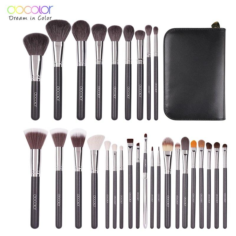 Docolor 29PCS Professional Makeup Brushes Set Make Up Powder Brush Eyeshadow Lip Brush Beauty Cosmetic Tools