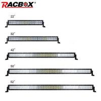 5D Straight 22 32 42 50 52 Inch 120W 180W 240W 288W 300W LED Light Bar Dual Row ATV SUV MPV Offroad Combo Beam LED Work Light
