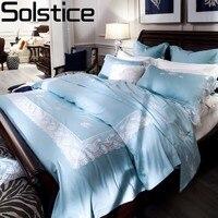 Solstice Домашний текстиль Высокое качество Французский длинноволокнистый хлопок Роскошные Постельное бельё Набор пододеяльников для пуховы