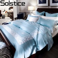 Solstice домашний текстиль Высокое качество Французский длинный штапель хлопок роскошные постельные принадлежности наборы пододеяльник набо
