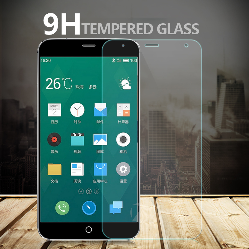 Προστατευτικό οθόνης 9H Tempered Glass CASE for Meizu mx3 mx4 MX5 pro 5 6 meizu M1 M2 M3 M3S note mini metal Protective Film