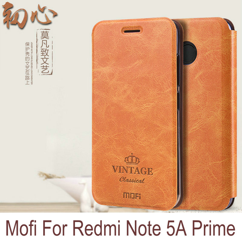 Newest Original Mofi Luxury PU Flip Leather Cover Case For Xiaomi Redmi Note 5A Prime/Note 5A Pro/Redmi Y1 Stand Function KT01