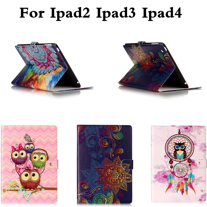 High Quality Fashion PU Leather Cute Case For iPad 2 3 4 Luxury Flip Cover For iPad2 ipad3 ipad4 Tablet With Soft TPU Shell high tech and fashion electric product shell plastic mold