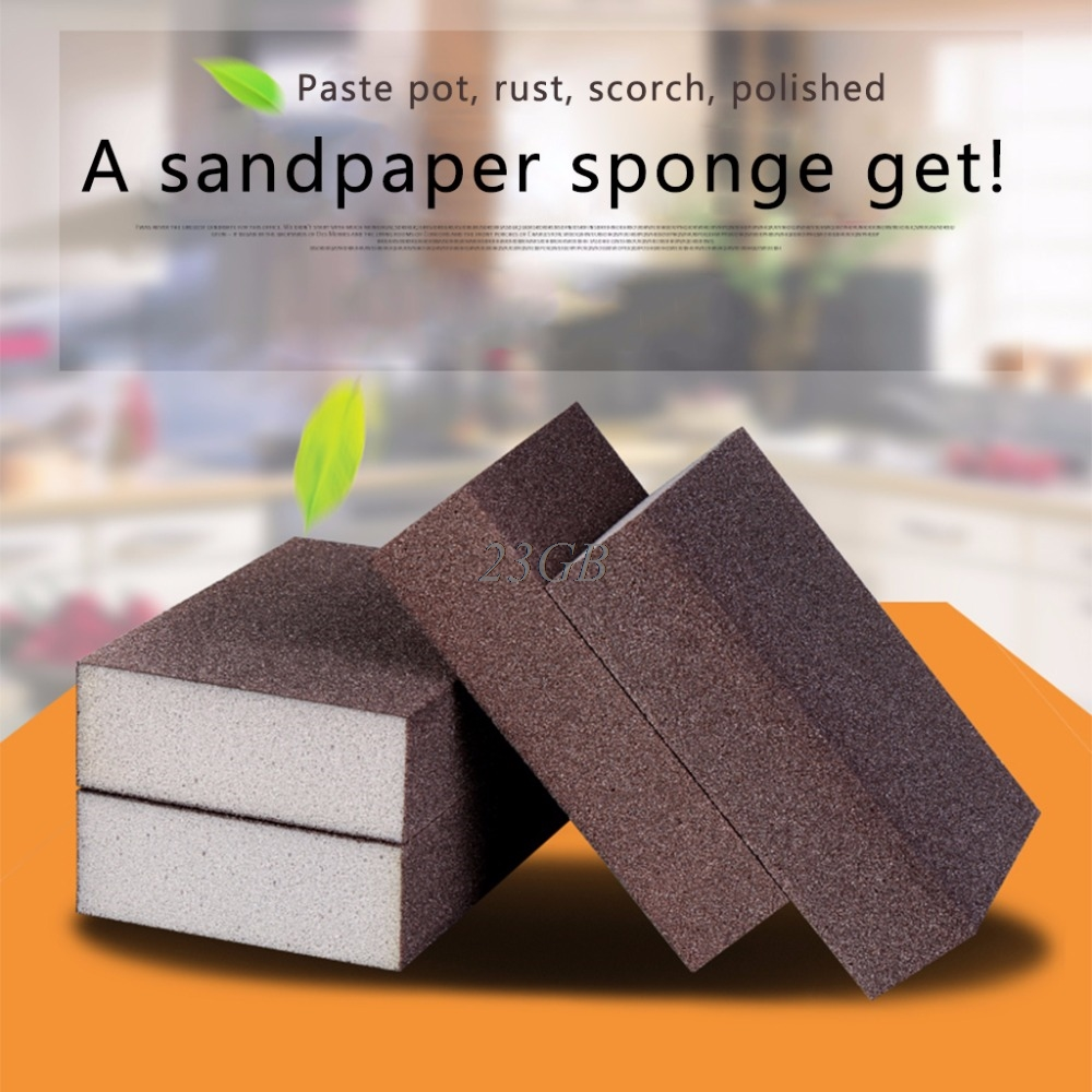 Sanding Block Girt Sponge Polishing Pad Furniture Buffing Sandpaper Tools M21