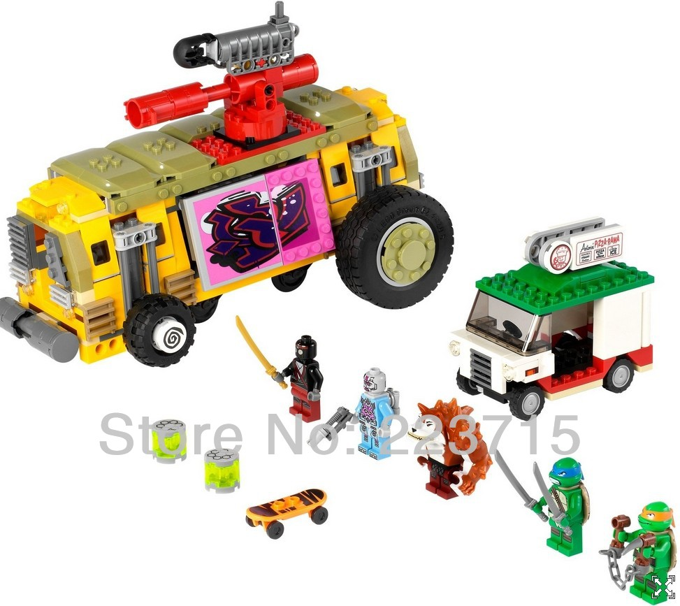 *The Shellraiser Street Chase* DIY enlighten block bricks,Compatible With other Assembles Particles