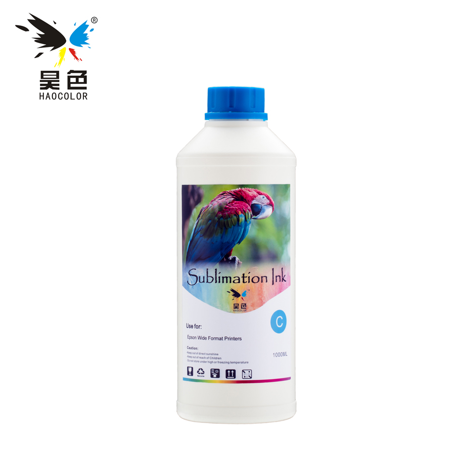 1000ML Cyan Sublimation Ink for Epson Printer Thermal Transfer in ink refill kit led uv curable ink for epson 1390 printer head printing on hard materials for 3d effects 1000ml pcs 6c