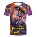 RIP Harambe Camiseta Gorila Descanse Em Paz Cincinnati Zoológico 1999-2016 Tops Camisa Dos Homens t-shirt Impressão masculino