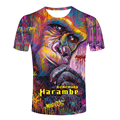 RIP Harambe T Shirt Rest In Peace Gorilla Cincinnati Zoo 1999- 2016 Mens t-shirt Print male Tops Shirt