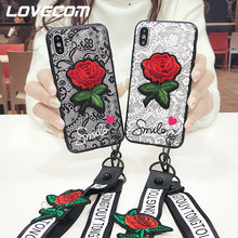 LOVECOM Para Xiaomi 5 5S 5X 5A 6X Nota 3 Lace Rose Pattern + Fita Caixa Do Telefone Para Redmi S2 4A 4X5 5A 5 Plus Nota 3 4 5 4X 5A(China)