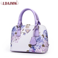 Chinese Element Printing Fashion Ladies PU Material Lightweight One Shoulder Shell Bag Ladies Travel Mobile Phone Bag