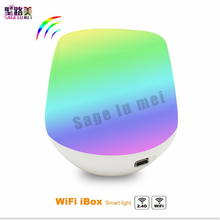Nuevo MiLight 2,4G inalámbrico LED RF Dimmer remoto Wifi ibox iOS Android APP para RGBW/RGB W/ ¡WW Mi! controlador de tira de bombilla de luz