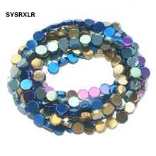 Free Shipping 8 MM 7 Colors Geometry Shape Hematite Beads Natural Stone Spacer Beads For Jewelry Making Diy Necklace Bracelet цена