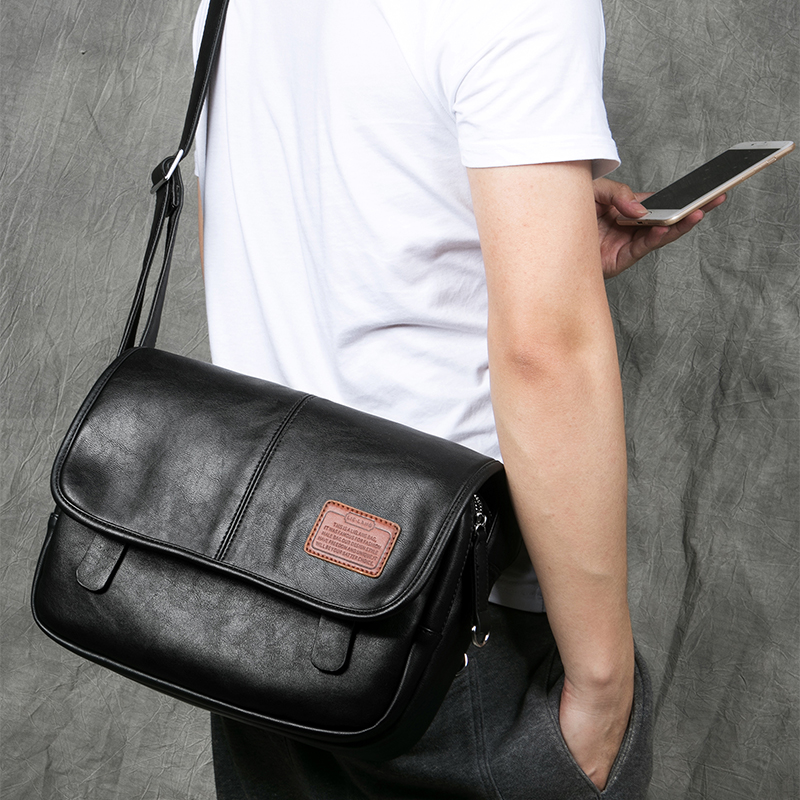 LIELANG Crossbody Bags Fashion Shoulder Bag Casual Men's Messenger Bag Men Waterproof Brand Soft Leather Mens Shoulder Bags