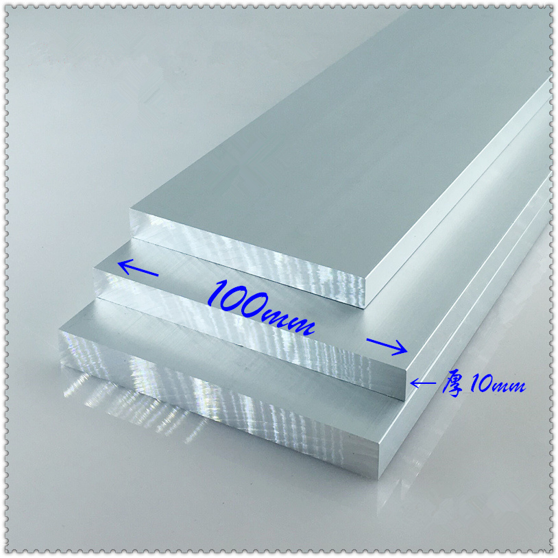 Aluminium alloy plate 10mmx100mm article aluminum 6063-T5 oxidation width 100mm thickness 10mm length 100mm 1pcs(China)