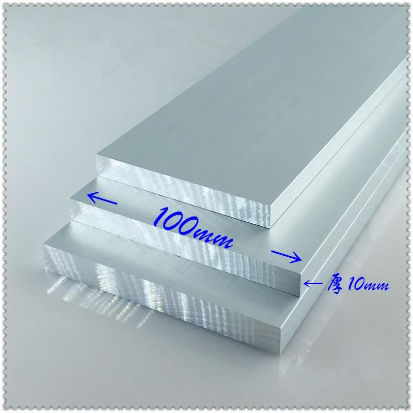 Aluminium alloy plate 10mmx100mm article aluminum 6063-T5 oxidation width 100mm thickness 10mm length 100mm 1pcs size length width thickness 100mm 100mm 3mm wear resistant high temperature resistance peek plate sheet
