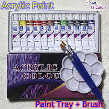 High Quality Acrylic Paints Tube Set Nail Art Painting Drawing Tool For The Artists 12ML 12