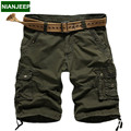NIANJEEP New men's Cotton multi-pocket cargo shorts pants summer casual Solid color man Tactical short male military short pants