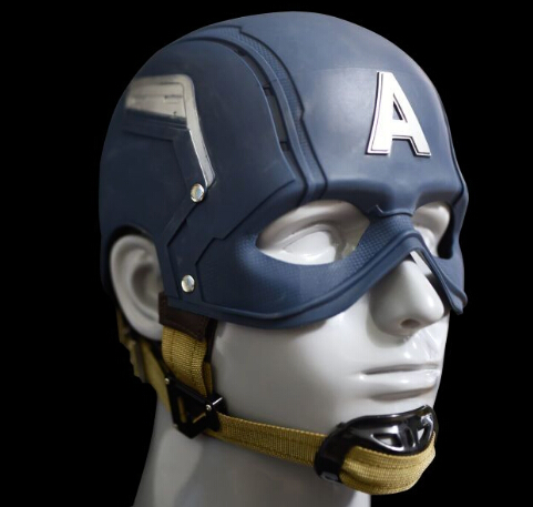 HOT Avengers Civil War Captain America rubber 1:1 Cosplay Helmet Wearable Captain Mask action figure toys Christmas metal colour the avengers civil war captain america shield 1 1 1 1 cosplay steve rogers metal model shield adult replica wu525