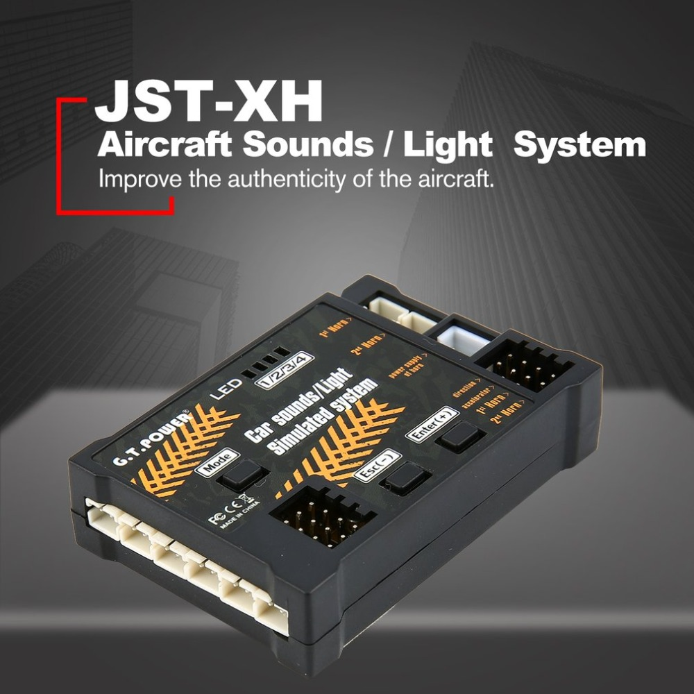 Module de jouet d'avion RC sons/système simulé de lumière pour Drone d'avion véhicule télécommandé véhicule bricolage partie