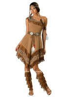 FREE SHIPPING Pocahontas indian squaw cowgirl princess fancy dress costume plus size s 6xl