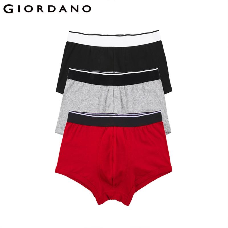 Giordano Men Underwear 3-pack Cotton Boxer Brand Mens Underwear Boxers Cueca Boxer Masculina Calzoncillos Hombre Boxer Marca