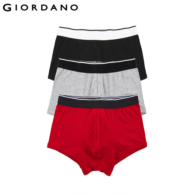 c655650af25551 US $17.4 42% OFF|Giordano Men Underwear 3 pack Cotton Boxer Brand Mens  Underwear Boxers Cueca Boxer Masculina Calzoncillos Hombre Boxer Marca-in  ...