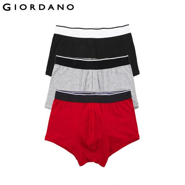 Ropa interior de hombre Giordano, paquete de 3 calzoncillos boxeadores de algodón para hombre, boxeadores cueca Boxer Masculina, calzoncillos de hombre Marca