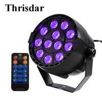 Thrisdar Sound Active 36W UV Led Stage Light Ultraviolet Led Par Light DMX512 Stage Spotlight KTV