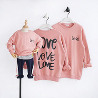 Parents and Children Clothes Autumn New Kids Wear Printed Love Mother Father Baby Girl Boy Clothes Good Family Matching Outfits