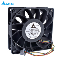 Original Delta TFC1212DE DELTA 12V 3 90A 12038 12cm Fan 120mm Fan 4 Line Large Air