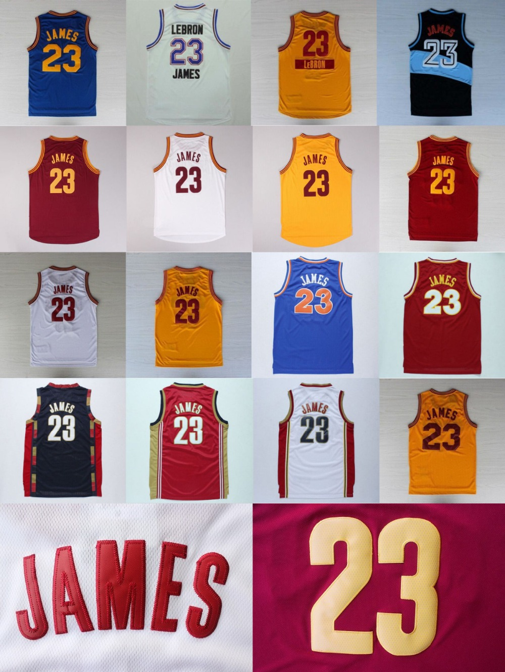 LeBron James Jersey All Star Yellow Blue Home Red White Black Retro 23 LeBron James Christmas Jersey Super Hot Top Quality