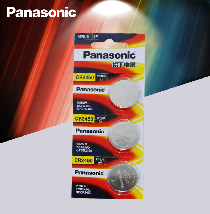 Original Panasonic 4pcs/lot CR2450 CR 2450 3V Lithium Button Cell Battery Coin Batteries For Watches,clocks,hearing Aids