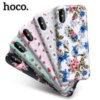 HoCo muchacha florido serie caja del teléfono protector para iPhone x TPU suave pintura Fundas para móviles cubierta protectora para iPhone 10