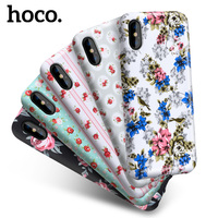 Hoco Girl Flowery Series Protective Phone Case For Iphone X Soft TPU Painting Phone Cases Back