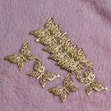 Бабочка филигранные обертки 30 шт. золотые металлические разъемы ремесла 39 x мм 25 мм для изготовления ювелирных изделий DIY Аксессуары Шарм Кулон филигрань