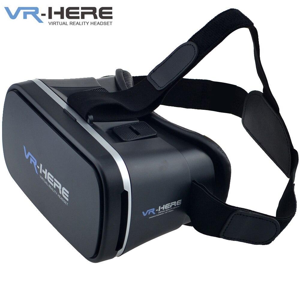 VR-HERE Casco de Realidad Virtual VR Gafas 3D Versión 2.0 para 3.5-6.0 pulgadas